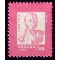 1 марка 1989 год Уругвай Лаваллеха 1636