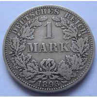 Германия 1 марка 1893 отметка монетного двора A - Берлин