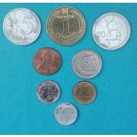 Монеты 7-и стран без повторов,России и СССР. Страны-Литва до ЕС, Украина (две разных), Польша, Финляндия, Чехословакия, США, Грузия.