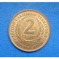 Британские карибские территории (Карибы) 2 цента 1965. Состояние