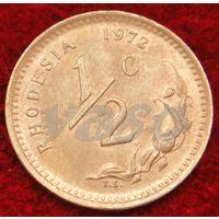 6667:  1/2 цента 1972 Родезия
