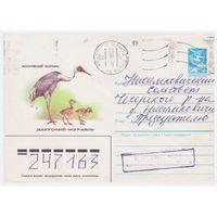 ХМК СССР, прошедший почту. Даурский журавль