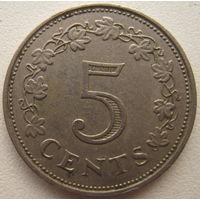 Мальта 5 центов 1972 г.
