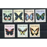 Гвинея-Бисау - 1984 - Бабочки - [Mi. 811-817] - полная серия - 7 марок. MNH.