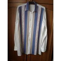 Нарядная рубашка,50-52 р,182 рост,хб.