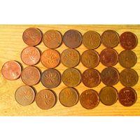 25 монет Канады - погодовка.