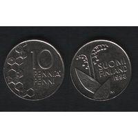 Финляндия km65 10 пенни 1998 год (M) (f32)(b04)n