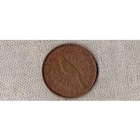 Новая Зеландия 1 пенни 1943 /фауна/(D)