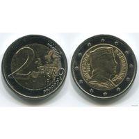 Латвия. 2 евро (2014, aUNC)