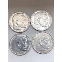 5 марок 1938 все А
