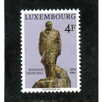 Люксембург.Ми-884.Сэр Уинстон Черчилль. 100 лет. (1874-1965).Скульптура.1974.