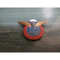 Знак ЧССР. IV Чемпионат мира по парашютному спорту. Братислава 1958 год.