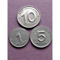 ГДР 1,5 и 10 пфеннигов 1952 А