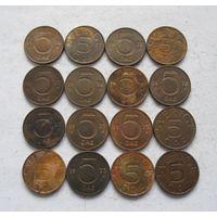 Швеция 12 монет по 5 эре