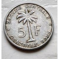 Бельгийское Конго (Руанда-Урунди) 5 франков, 1958 2-2-6