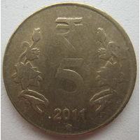 Индия 5 рупий 2011 г. (g)