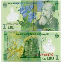 Румыния. 1 лей (образца 2005 года, P117, UNC)