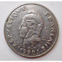 Новая Каледония 20 франков 1990 г