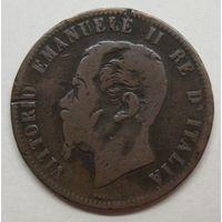 Италия 10 чентезимо, 1863 год