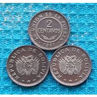 Боливия 2 центаво (центов). UNC. Инвестируй выгодно в монеты планеты!