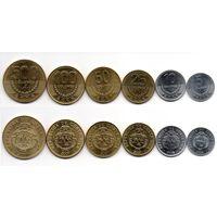 Коста Рика НАБОР 6 монет 2008-2016 UNC