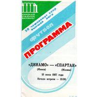 Динамо Минск - Спартак Москва 18.06.1987г.