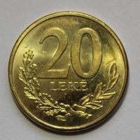 Албания 20 лек 2016 г.