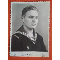 Фото военного моряка-североморца. 1962 г. 9х12 см.