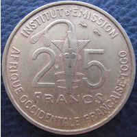 Фр. Западная Африка Того 25 франков 1957 в холдере