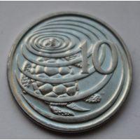 Каймановы острова, 10 центов 2008 г.