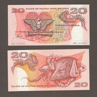 Банкнота Папуа Новая Гвинея 20 кина не датирована (1981-85) UNC ПРЕСС