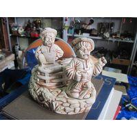 Набор для специй с мужиками, керамика, 14х18х13 см.