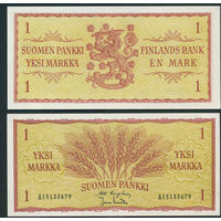 Финляндия 1 markkaa 1963 UNC