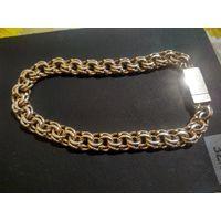 Браслет 21,58 гр  плетение бисмарк совецкое золото