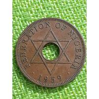 Нигерия 1 пенни 1959г ..