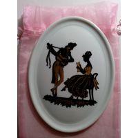 Фарфоровая плакетка, настенная тарелка, клеймо, Германия.
