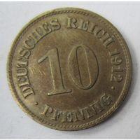 Германия. 10 пфеннигов 1912 E . 1-68