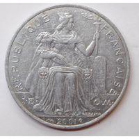 Новая Каледония 5 франков 2001 г