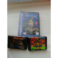 Катриджи, видеоигры к приставке Сега, Sega Mega Drave, рабочие, 3 шт. одним лотом
