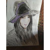 "Картина ""Девушка в шляпе"""