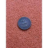 Великобритания 1/2 фартинга 1902 г.,коронационная модель ,редкость