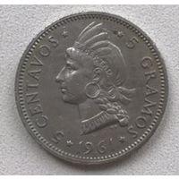 Доминиканская республика 5 сентаво 1961 г.