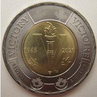 Канада 2 доллара 2020 г. 75 лет победе во Второй Мировой войне