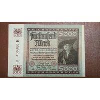 Германия / 5 000 mark / 1922 год / Ro-80 (с)