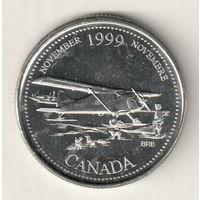 Канада 25 цент 1999 Ноябрь