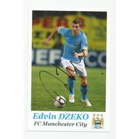 Edin Dzeko(Manchester City, Англия). Живой автограф на фотографии.