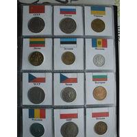 Монеты стран мира в альбоме. Лот # 1