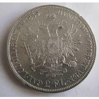 Австрия, 2 флорина, 1859, серебро