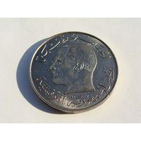 Тунис. 1/2 динара 1968 год KM#291 Редкая!!!