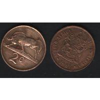 Южная Африка (ЮАР) _km83 2 цента 1981 год (b06)